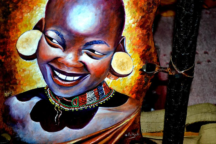 African Beautiful Woman Painting By Africa Photos Lupe