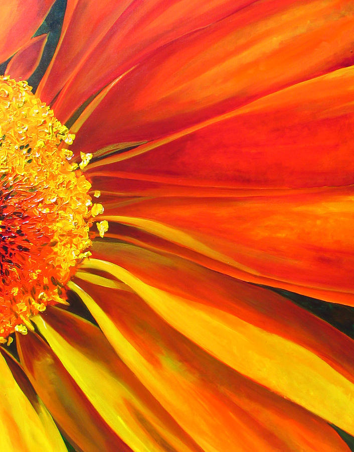African Daisy Painting - African Daisy by Raette Meredith