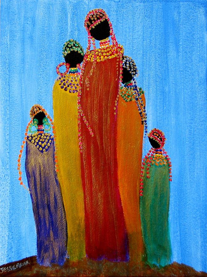African Family 2907 Painting By Jessie Meier
