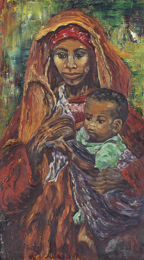 African Madonna Painting By Ruth G Foster