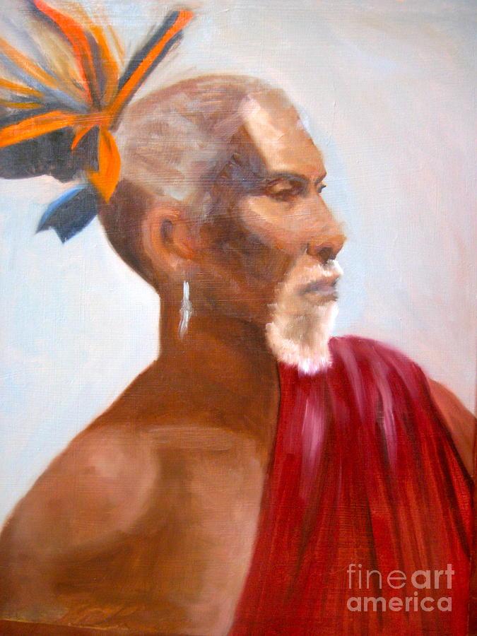 Portrait Painting - African Man by Cynthia Mozingo