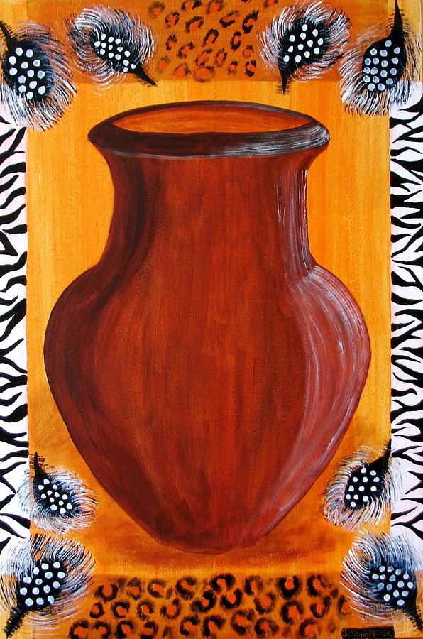 Plant Pot Painting African Designs