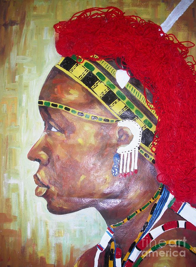 African Queen Painting by Dennis Spaine