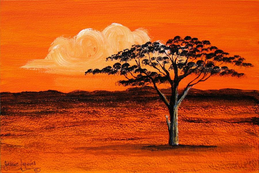 African Tree 4427 Painting By Jessie Meier