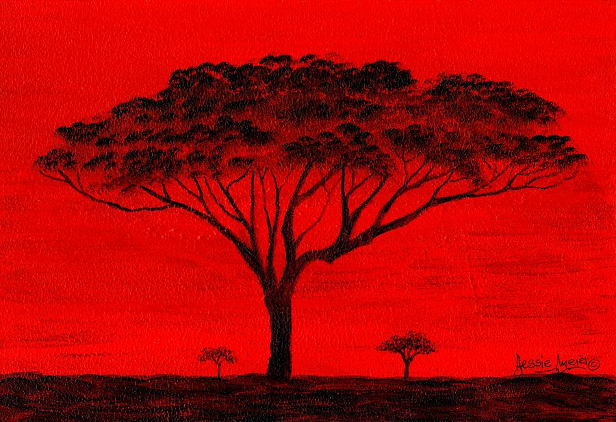 African Art On Canvas Painting