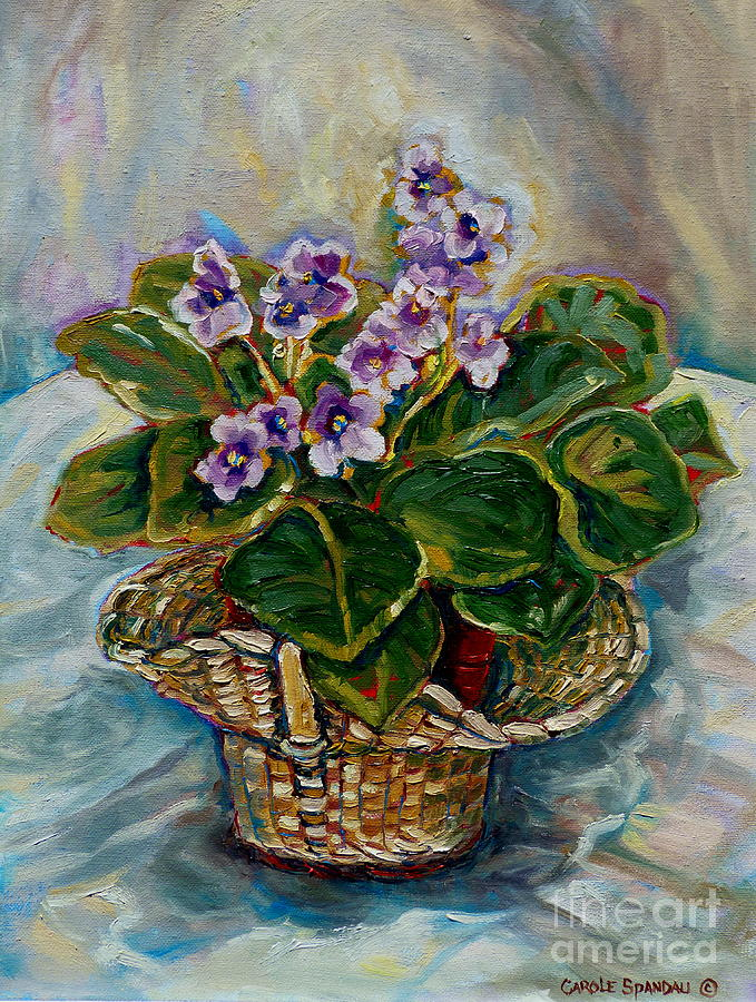African Violets Painting - African Violets by Carole Spandau