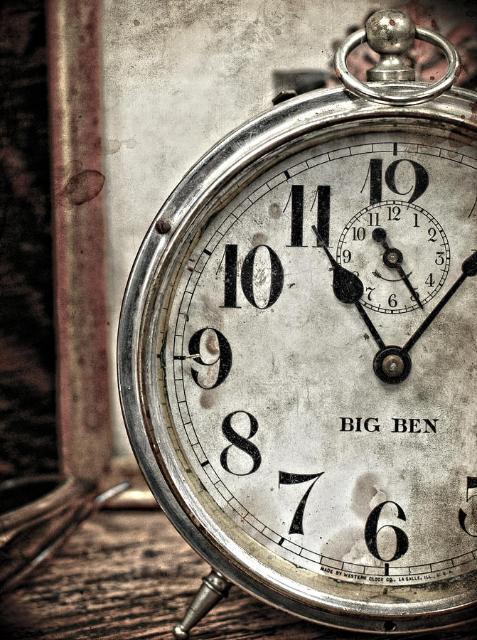Clock Photograph - After Eleven  by Jerry Cordeiro
