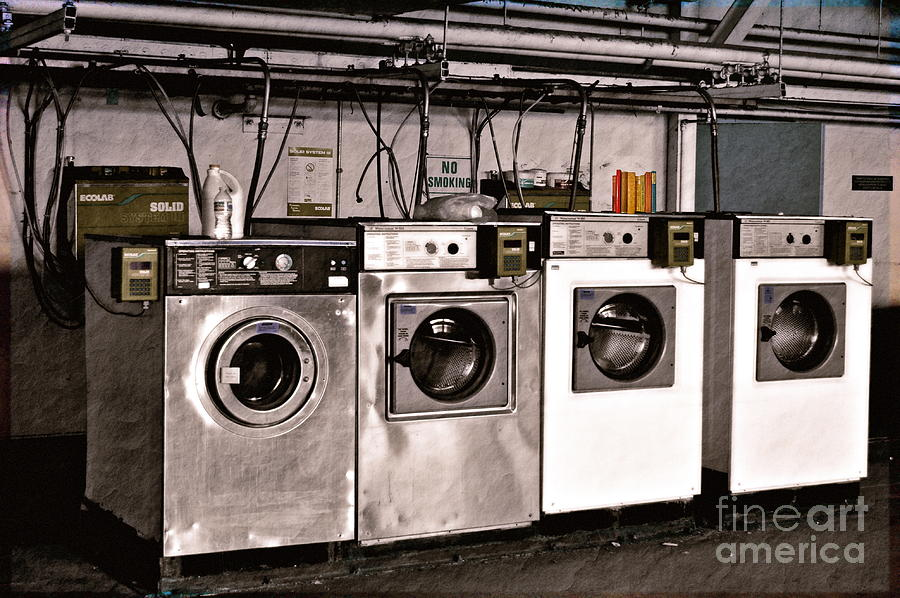 Laundry Photograph - After Enlightenment The Laundry. by Gwyn Newcombe
