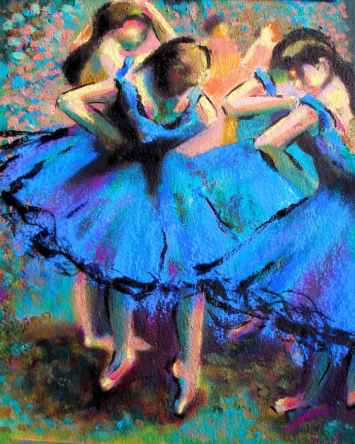 Ballet Painting - AFTER MASTER DEGAS-My own version by Susi Franco