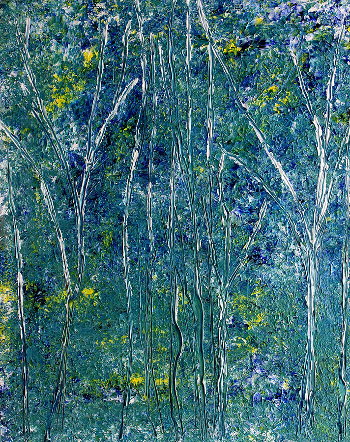 Yellow Painting - After Monet by Dolores  Deal