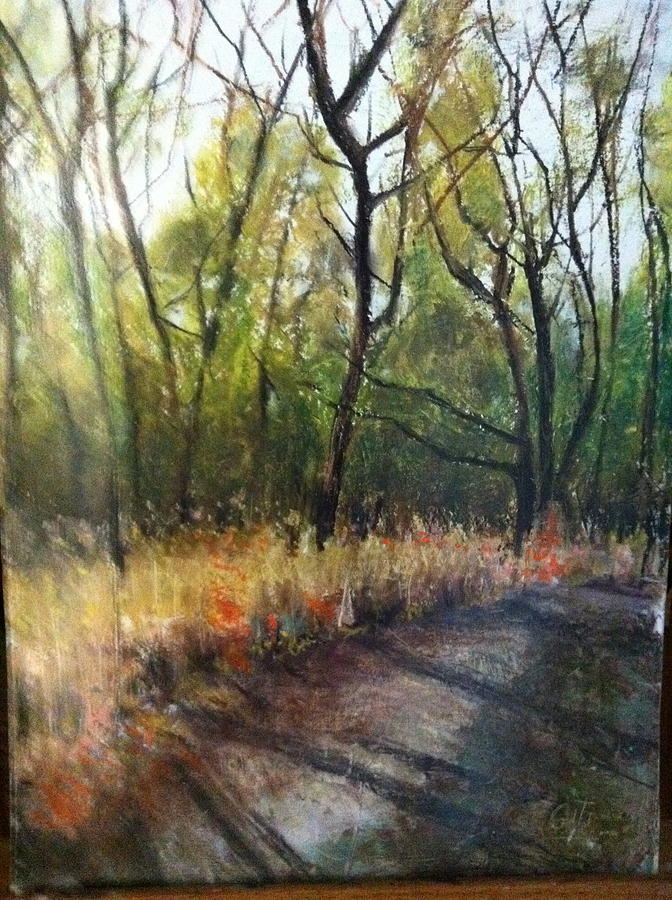 Land Scape Painting - After Noon Shade by Giti Ala