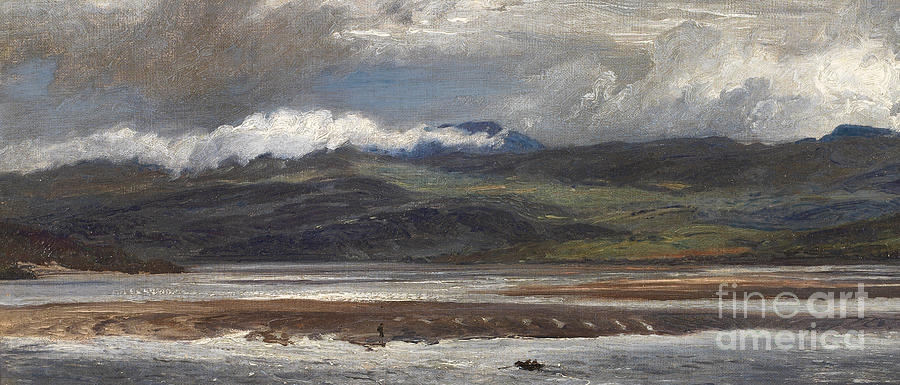 Seascape Painting - After Rain by Henry Moore