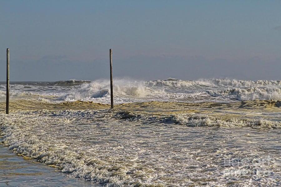 Waves Photograph - After Storm Sandi by Deborah Benoit
