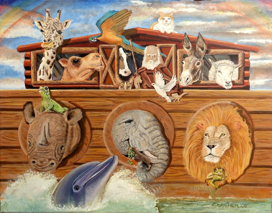 Noah Painting - After The Flood by Chris Dreher