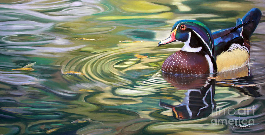 Duck Painting - After The Rain by Deb LaFogg-Docherty