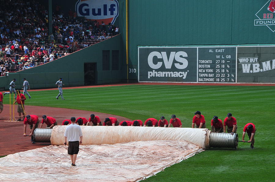 Boston Photograph - After The Rain Delay by Mike Martin