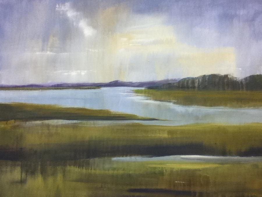 Landscape Painting - After The Rain by Lori King