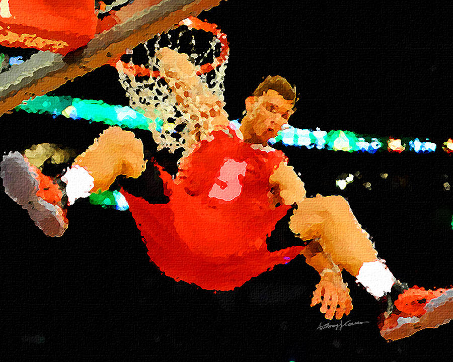 Sports Painting - After The Slam Dunk by Anthony Caruso