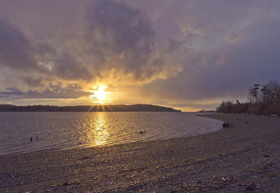Sunset Photograph - After The Storm by Priya Ghose