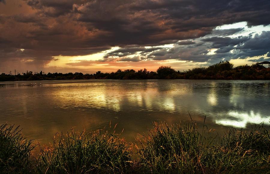 Sunset Photograph - Afterglow by Saija  Lehtonen