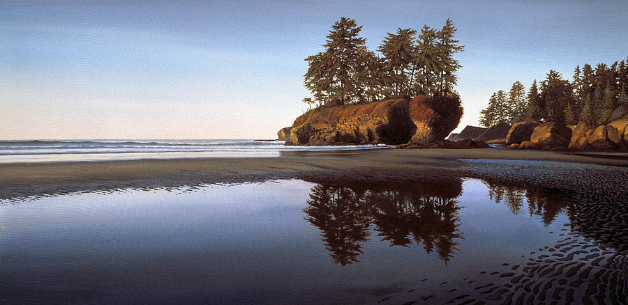 Afterglow Salt Creek Beach Washington Painting By Cliff Wassmann