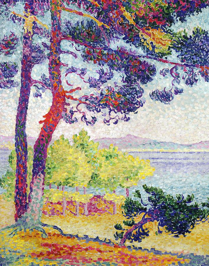 Var Painting - Afternoon At Pardigon by Henri-Edmond Cross
