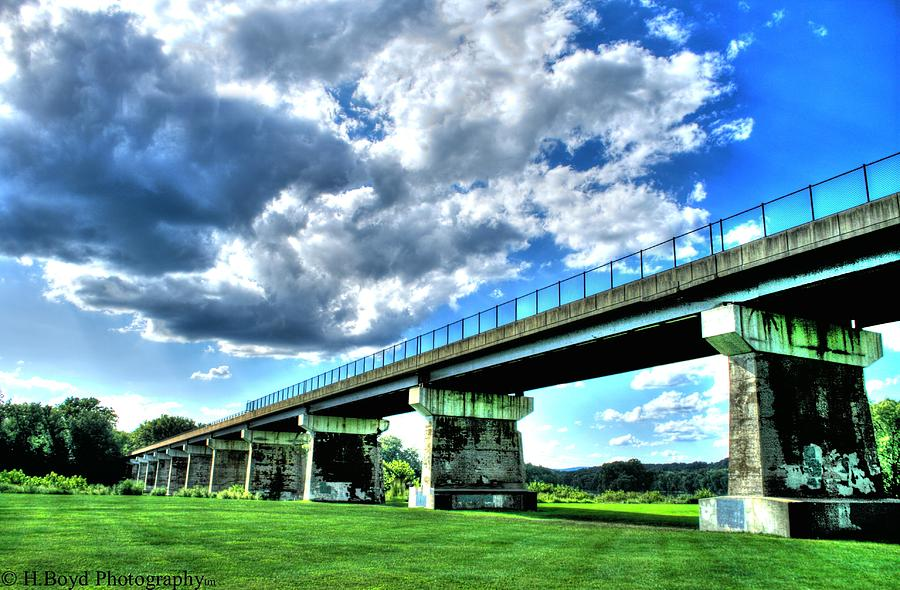 Architecture Photograph - Afternoon By The Bridge 1 by Heather  Boyd
