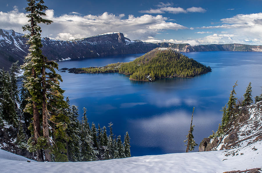 Crater Lake Photograph - Afternoon Clearing At Crater Lake by Greg Nyquist