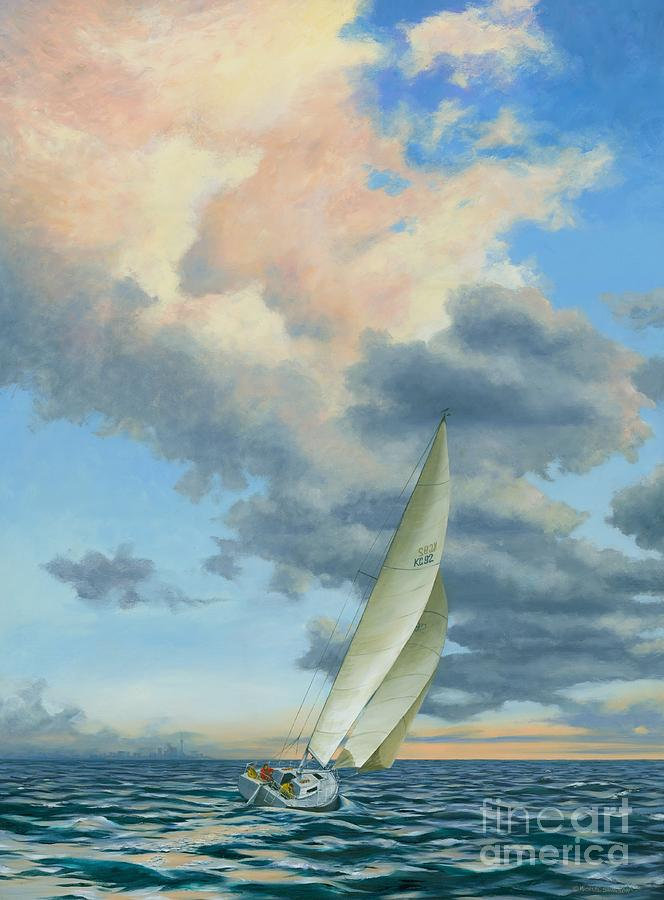 Sailing Painting - Afternoon Delight by Michael Swanson