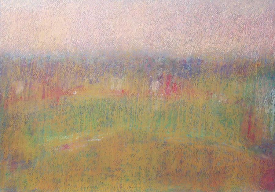 Afternoon Landscape I Pastel by Vladimir Frolov