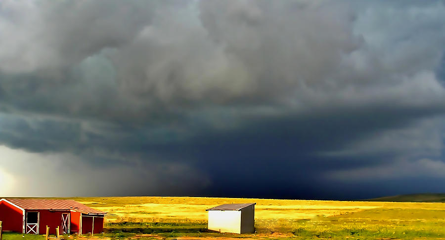 Storm Photograph - Afternoon Storm by Ellen Heaverlo