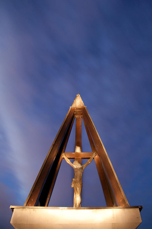 Jesus Photograph - Against The Sky by Ian Middleton