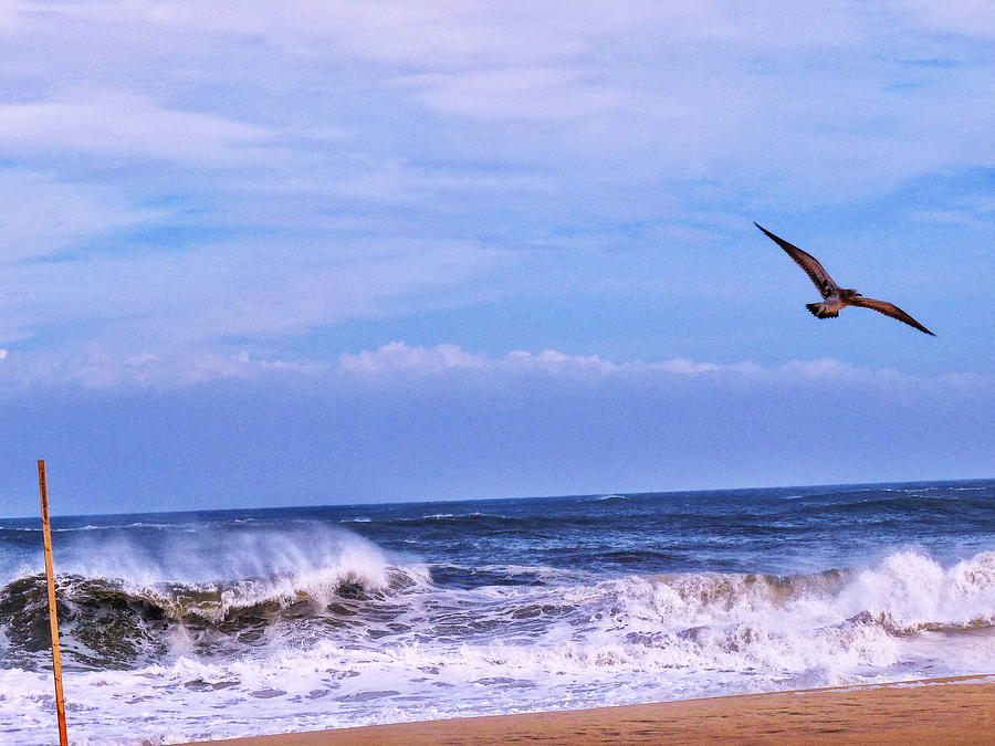 Waves Photograph - Against The Wind by Kelly Reber