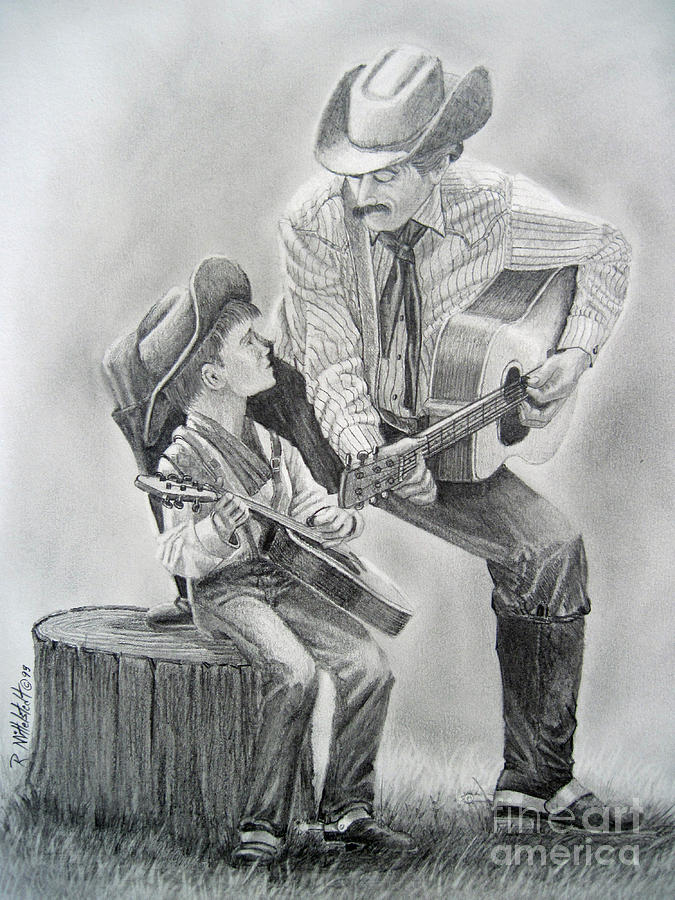 Southwestern Drawing - Age To Age by Rick Mittelstedt