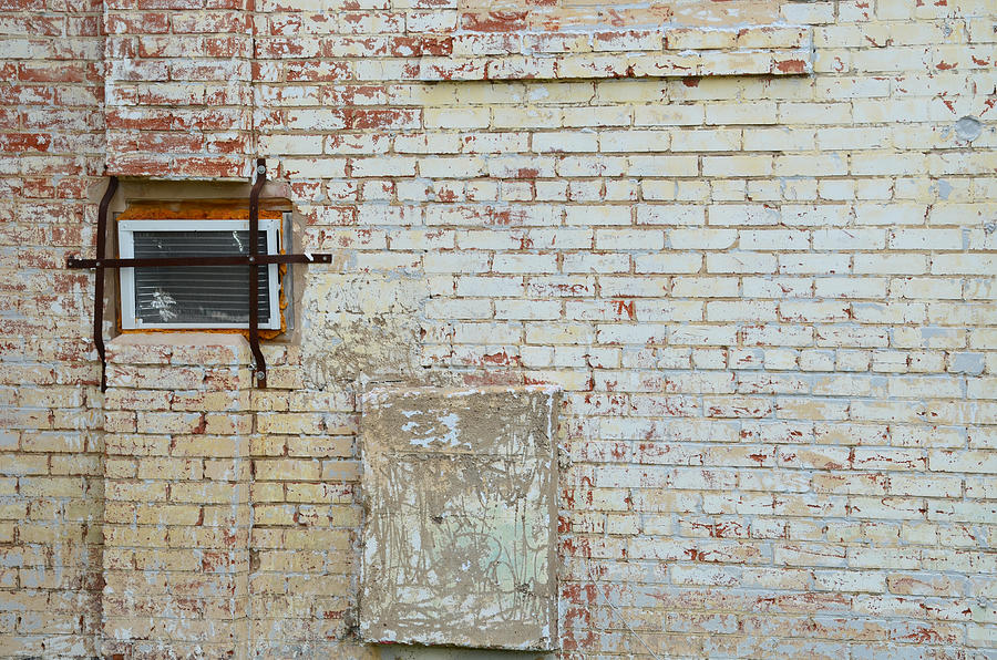 Brick Wall Photograph - Aged Brick Wall With Character by Nikki Marie Smith
