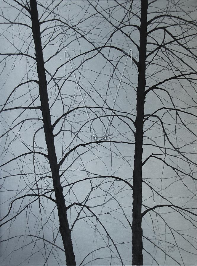 Winter Trees Painting - Aging by Roger Calle