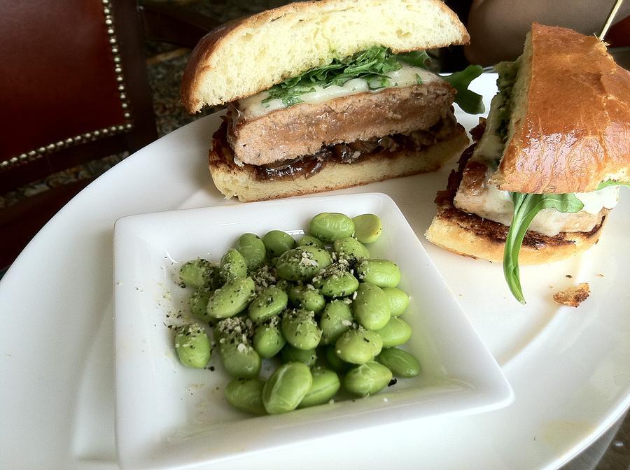 Lunch Photograph - Ahi Tuna Sandwich At Pebble Beach by GuitarGeeks Photography