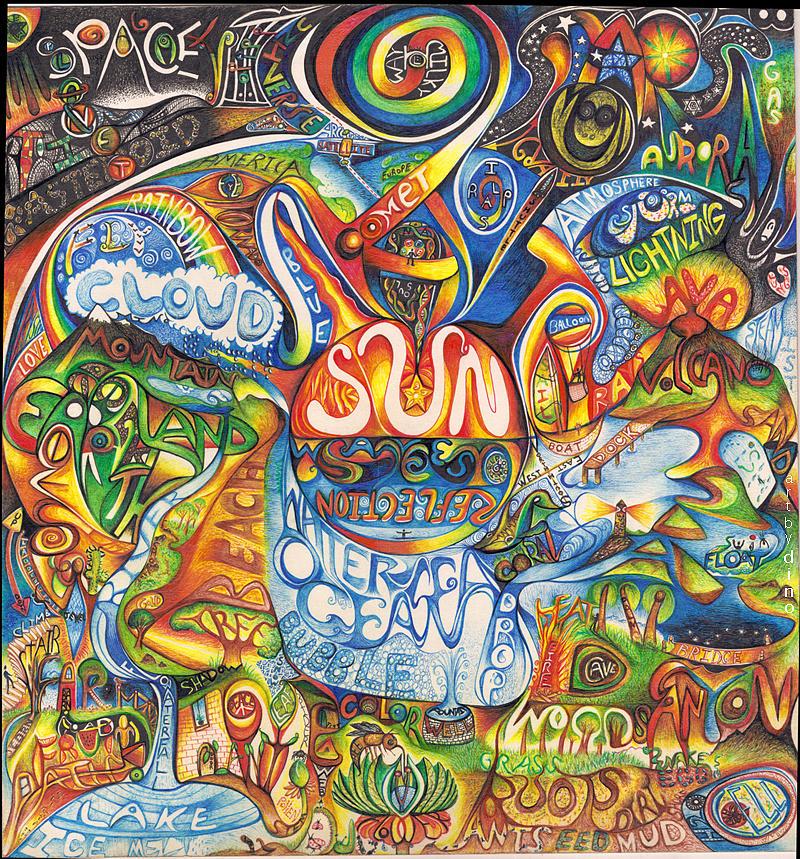 Earth Drawing - AHL by Jonathan DiNo DiNapoli