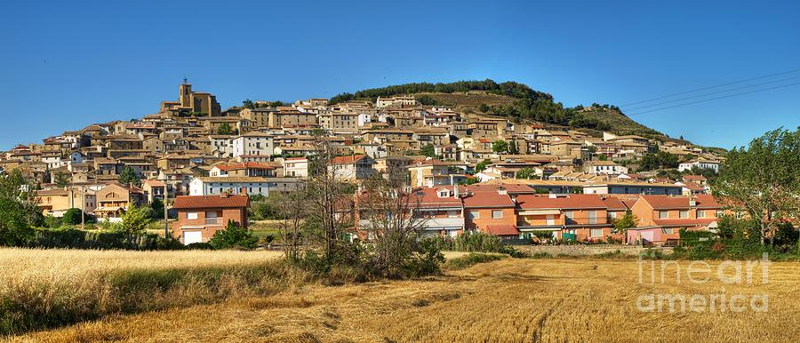 Village Photograph - Aibar Panorama by Alfredo Rodriguez