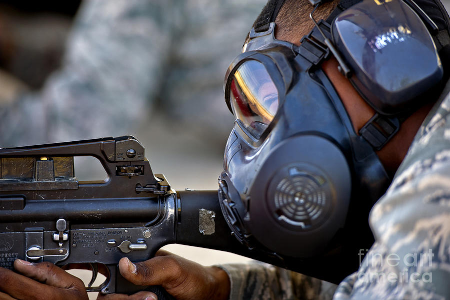 Combat Photograph - Air Force Basic Military Training by Stocktrek Images