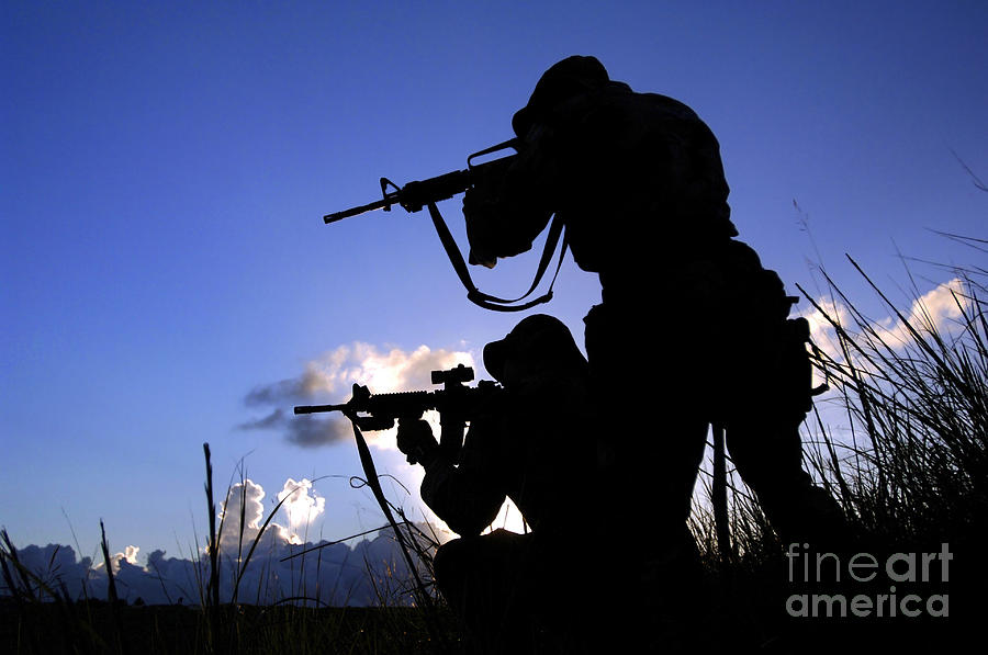 Horizontal Photograph - Air Force Security Forces Personnel by Stocktrek Images