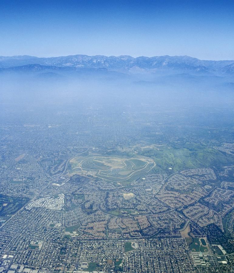 Los Angeles Photograph - Air Pollution Over Los Angeles by Detlev Van Ravenswaay