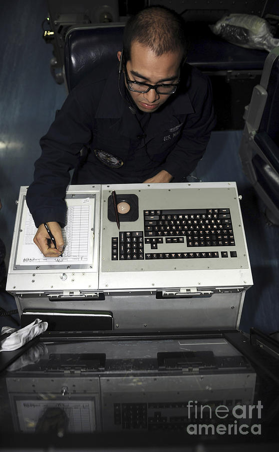 Strategy Photograph - Air Traffic Controller Records Incoming by Stocktrek Images