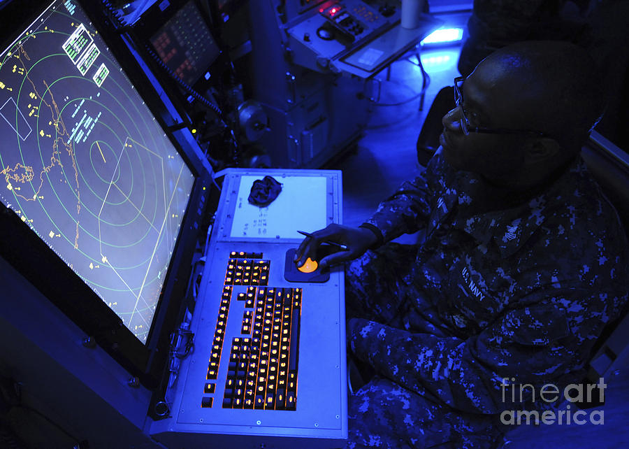 Keyboard Photograph - Air-traffic Controller Tracks Incoming by Stocktrek Images