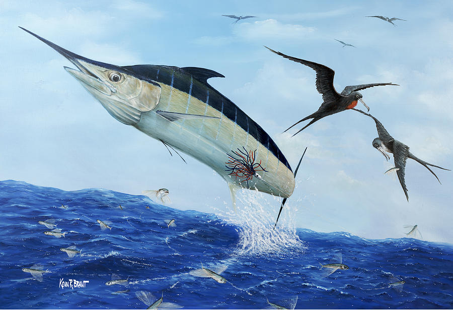 Blue Marlin Painting - Airbourne by Kevin Brant