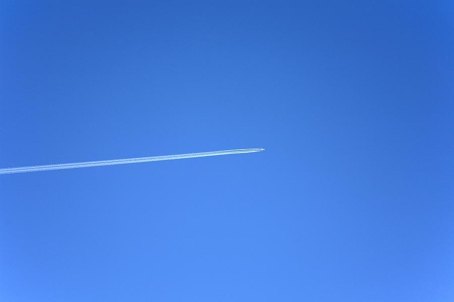 Aircraft Photograph - Aircraft Contrail by Victor De Schwanberg