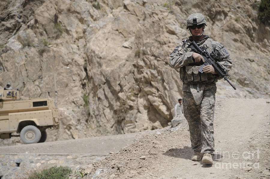 Afghanistan Photograph - Airman Provides Security During Combat by Stocktrek Images
