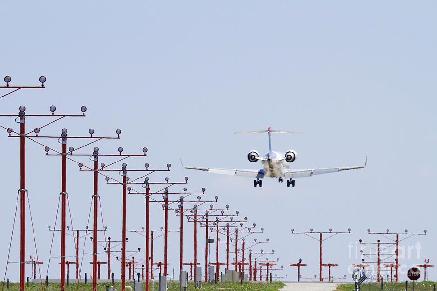 Aircraft Photograph - Airplane Landing by Jeremy Woodhouse