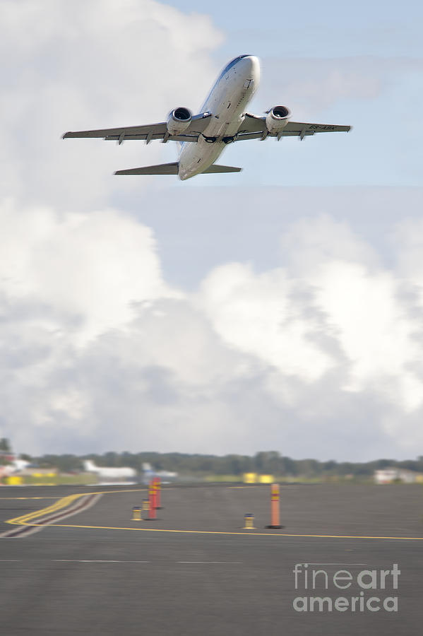 Air Travel Photograph - Airplane Taking Off by Jaak Nilson