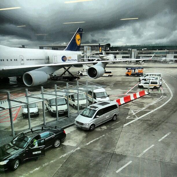 England Photograph - #airport #manchester #plane #car #cloudy by Abdelrahman Alawwad